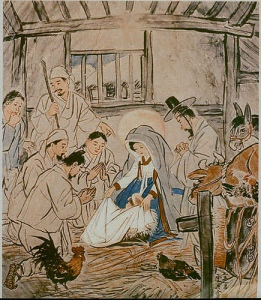 Japanese art: Japanese nativity, early 19th century